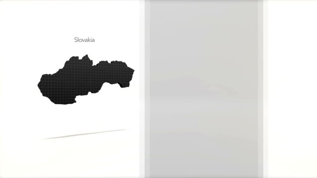 Motion Graphics Country information infographic background - Slovakia video