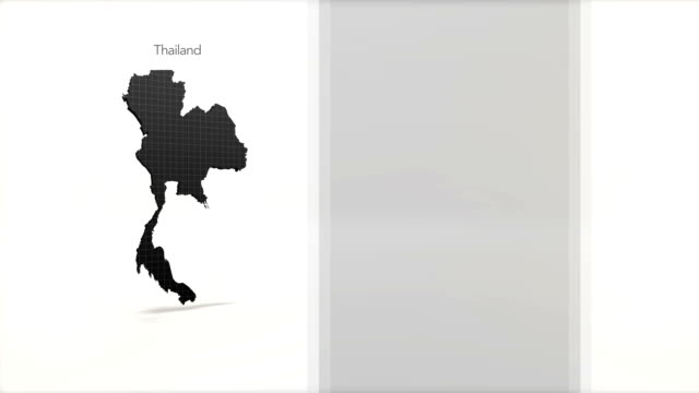 Motion Graphics Country information infographic background - Thailand video