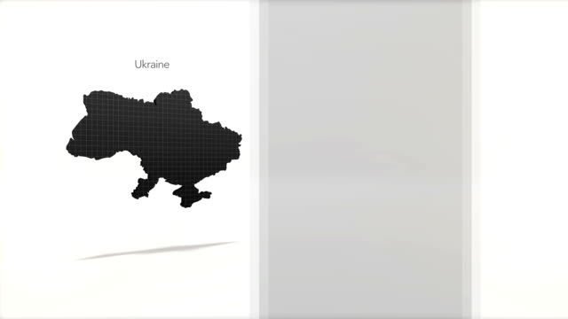 Motion Graphics Country information infographic background - Ukraine video