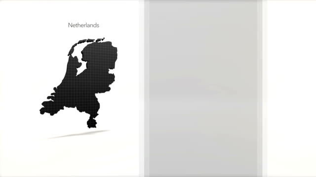 Motion Graphics Country information infographic background - Netherlands video