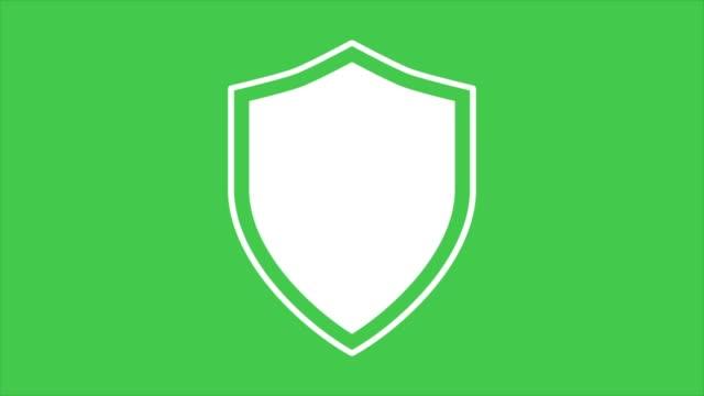 vídeos y material grabado en eventos de stock de imágenes de animación plana de gráficos animados. iconos de escudo. concepto de seguridad. - shield