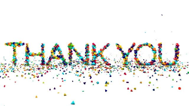 motion graphics - thank you animation on white - thank you stock videos and b-roll footage