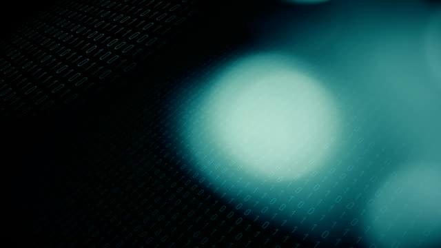 Motion graphics zeros ones cybersecurity idea video