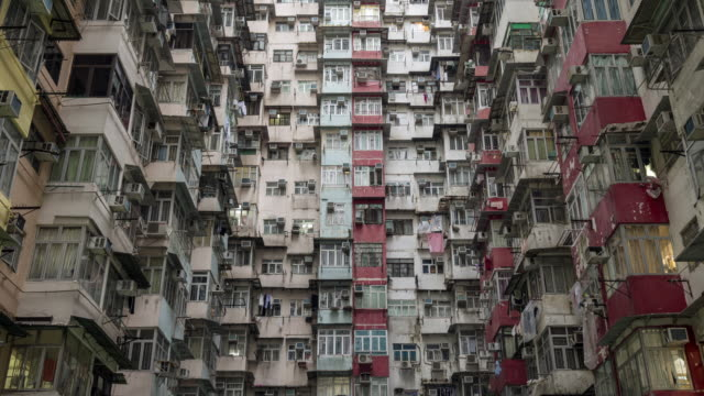 4K UHD Motion Lapse : Yick Cheong Buildings, Quarry Bay in Hong Kong