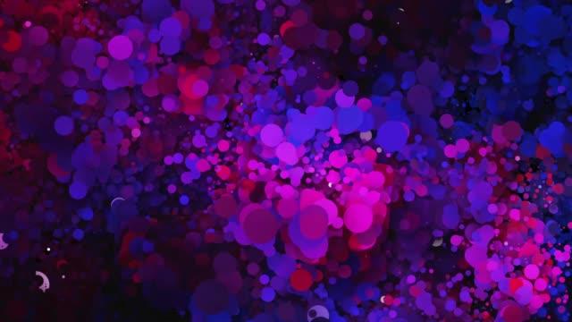 パーティクルのモーション。抽象的な背景。 ビデオ