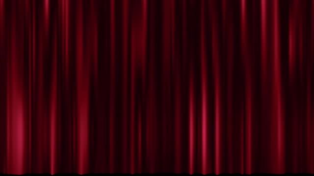 stockvideo's en b-roll-footage met beweging van theater rood gordijn - prijs onderscheiding