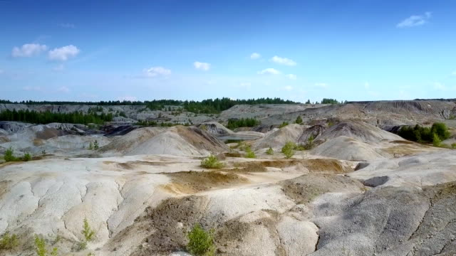 motion over smoothed slopes of abandoned clay quarry