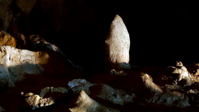 Motion shots of limestone caves in Ryukyu Islands. video