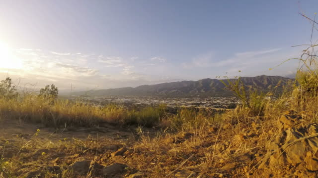 Motion time lapse in Hills above Burbank, CA at sunset video