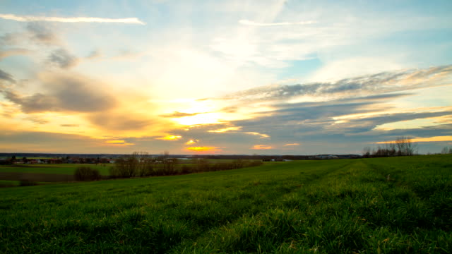 HD Motion Time-Lapse: Landscape At Sunset video