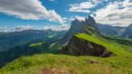 istock 4K Motion Timelapse of Seceda mountain in the Dolomites, Italy 1266906639