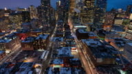 istock Motion Timelapse of the Downtown Toronto at Night (wide angle) 1189293563