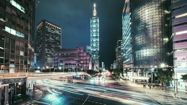 Motionlapse of cityscape at Taipei, Taiwan