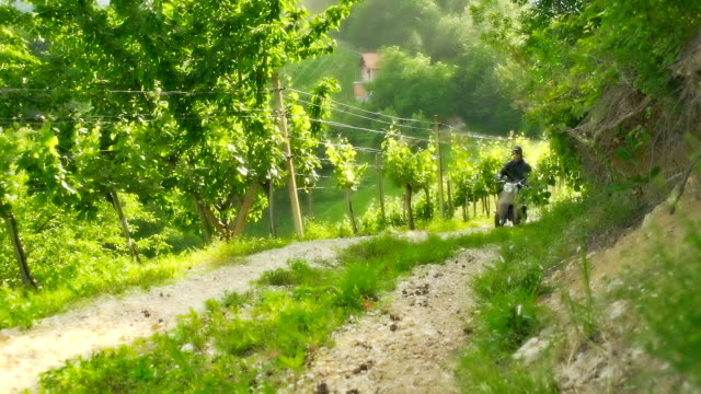 HD SLOW MOTION: Moto Rider On Dirt Road video