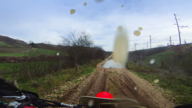 motocross enduro motorbike riding point of view pov - motocross video stock e b–roll