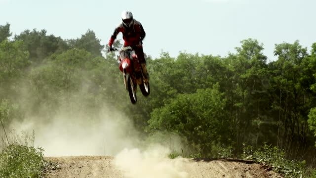 SLO MO Motocross Riders On Track video