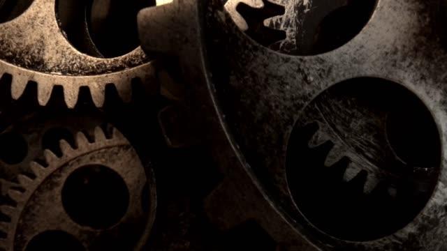 vídeos de stock e filmes b-roll de motor gear - dentes