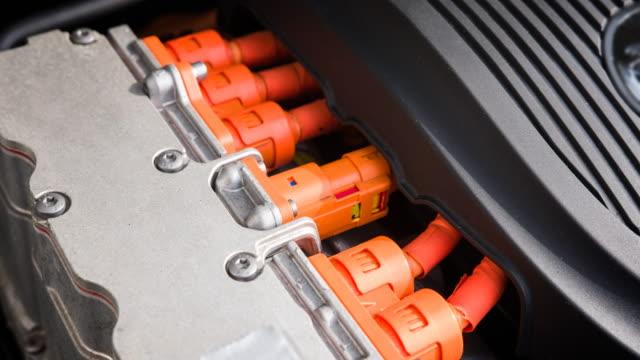 motor eines elektroautos - elektromobilität stock-videos und b-roll-filmmaterial