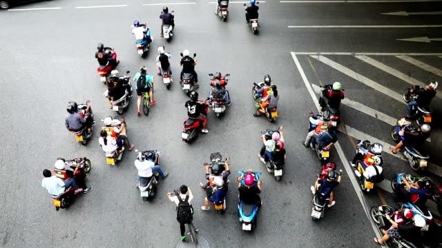Motorbike traffic in Bangkok video