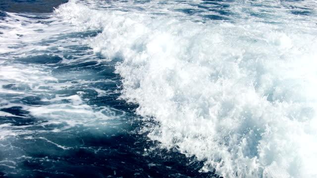 Motorboat wave video