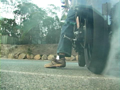 Motorcycle Burnout video