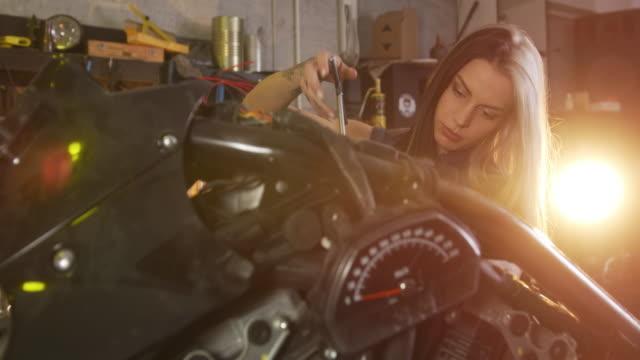 Motorcycle repair shop video