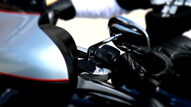 Motorcycle Revving Engine - Black Gloves