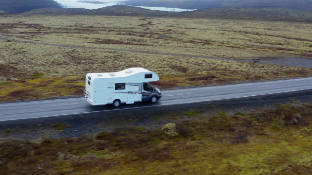 Motorhome driving on the streets video