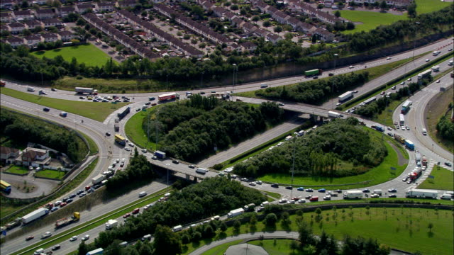 M50 Motorway  - Aerial View -, Ireland video