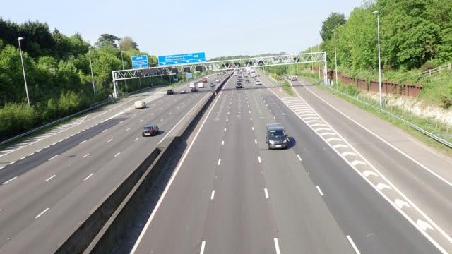 M25 Motorway, Junction 17, Chorleywood, Hertfordshire, UK video