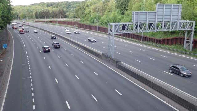 M25 Motorway, Junction 18, Chorleywood, Hertfordshire, UK video