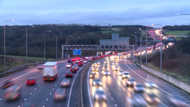 Motorway timelapse video