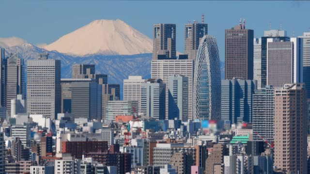 vidéos et rushes de les gratte-ciels du mont fuji et shinjuku - fuji yama