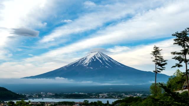 富士山日本 #2 - ストック ビデオ (4 k) 時間の経過 - 富士山点の映像素材/bロール