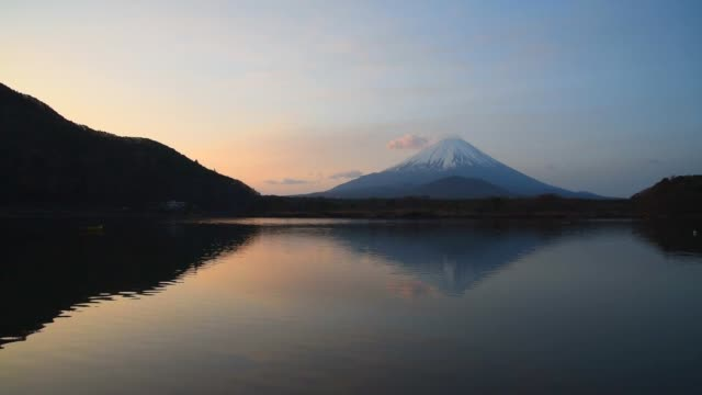 Mount Fuji, the World Heritage, view at Lake Shoji