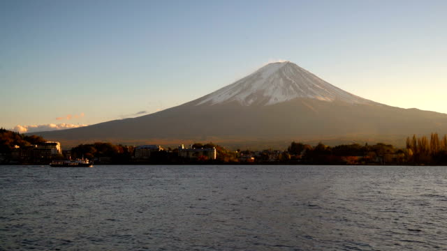 Mount Fuji viewed from Lake Kawaguchiko , Japan video