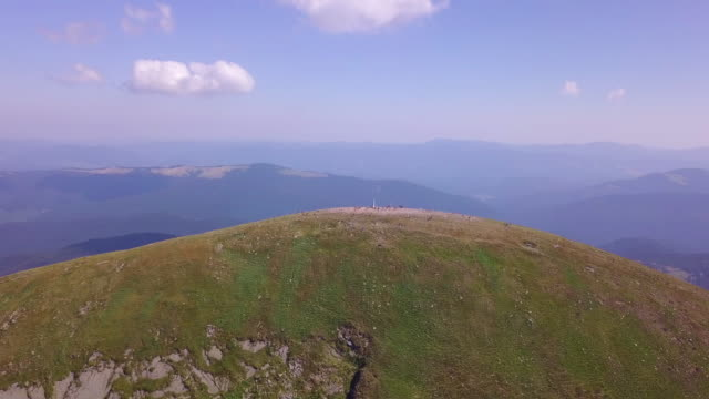 Mount Hoverla is the highest mountain in Ukraine and part of the Carpathian Mountains. video