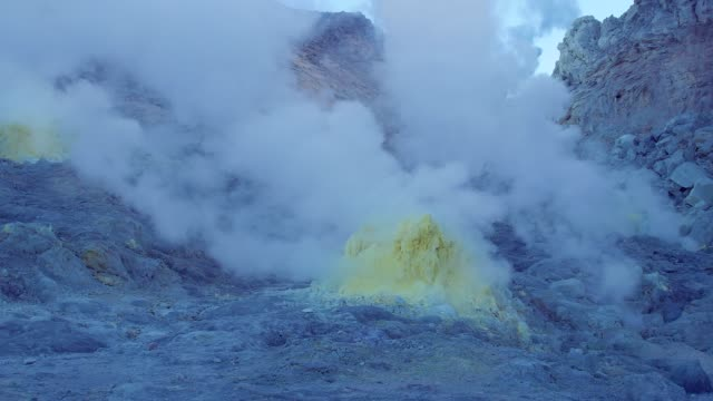 montera iwo (iwo-yama), akan nationalpark, hokkaido, japan. - akan nationalpark bildbanksvideor och videomaterial från bakom kulisserna