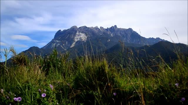 Mount Kinabalu with blue sky video