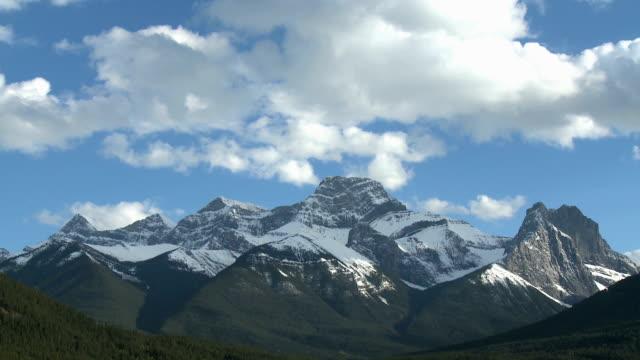 Mount Lougheed mountain range video
