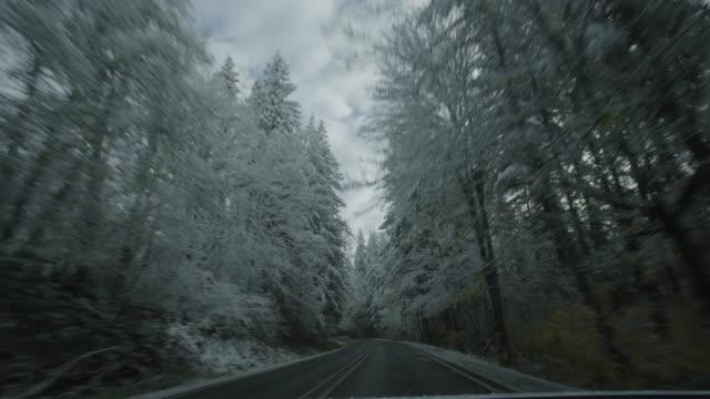 Mount Rainier Snowy Road Time Lapse