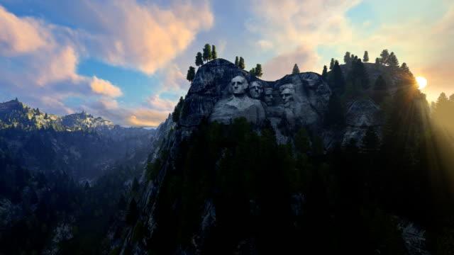 Mount Rushmore, morning mist video
