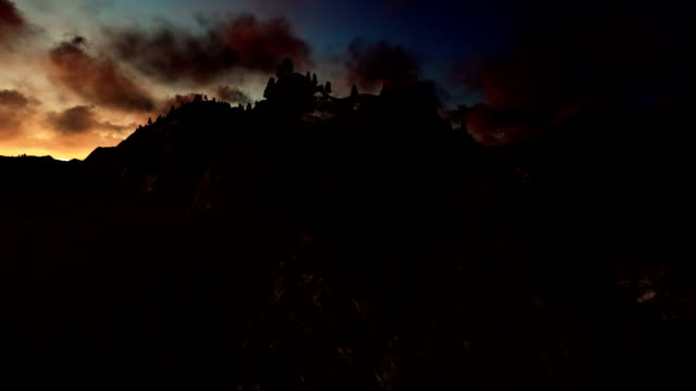 Mount Rushmore timelapse sunrise, camera fly video