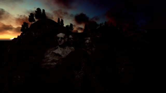 Mount Rushmore timelapse sunrise video