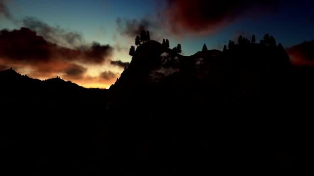vídeos y material grabado en eventos de stock de monte rushmore, timelapse sunrise - mount rushmore