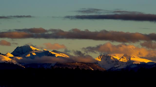 Mountain Alpenglow Sunset Time Lapse