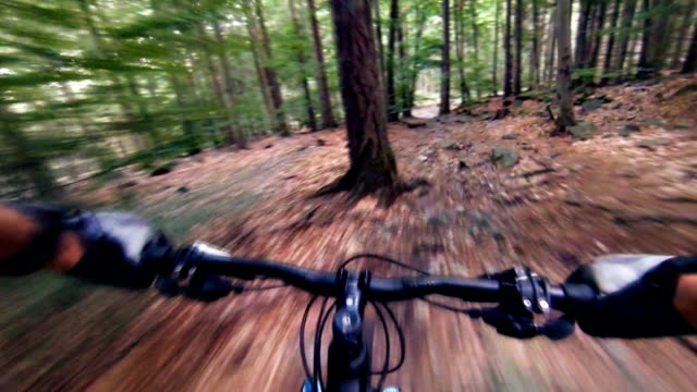 Mountain bike downhill, MTB personal perspective video