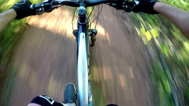 POV mountain biker video