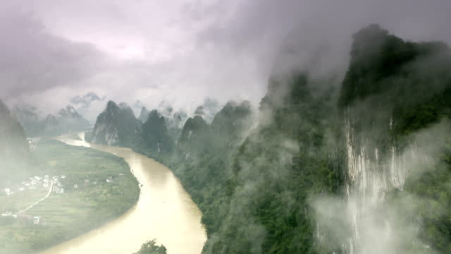 Mountain Clouds Time Lapse of Yangshuo China video