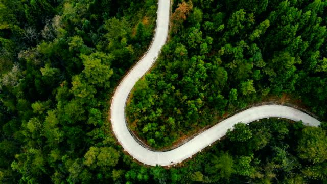 山道のカーブ - 曲線点の映像素材/bロール